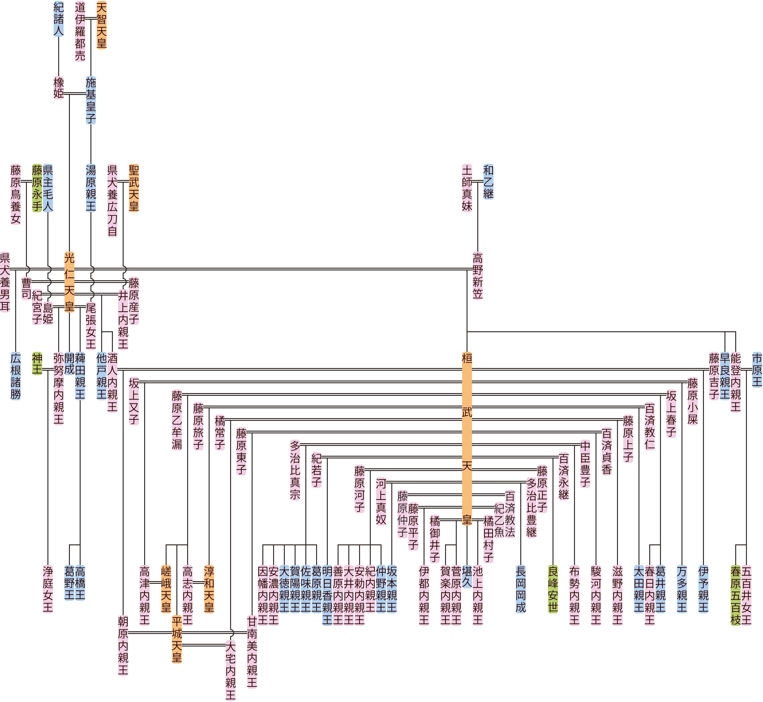 光仁天皇の系図