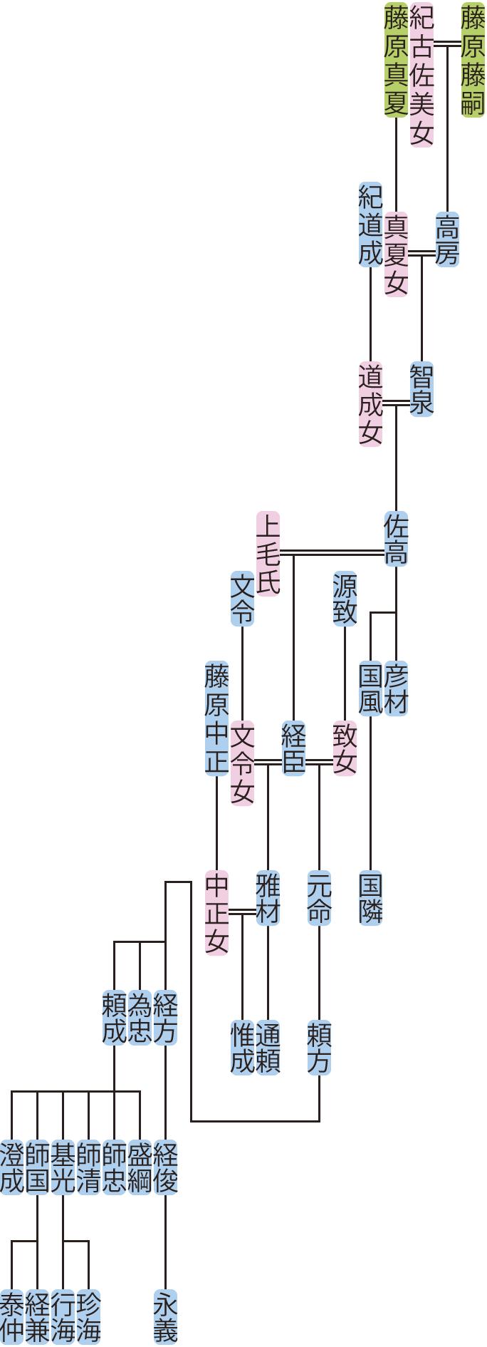 藤原智泉の系図