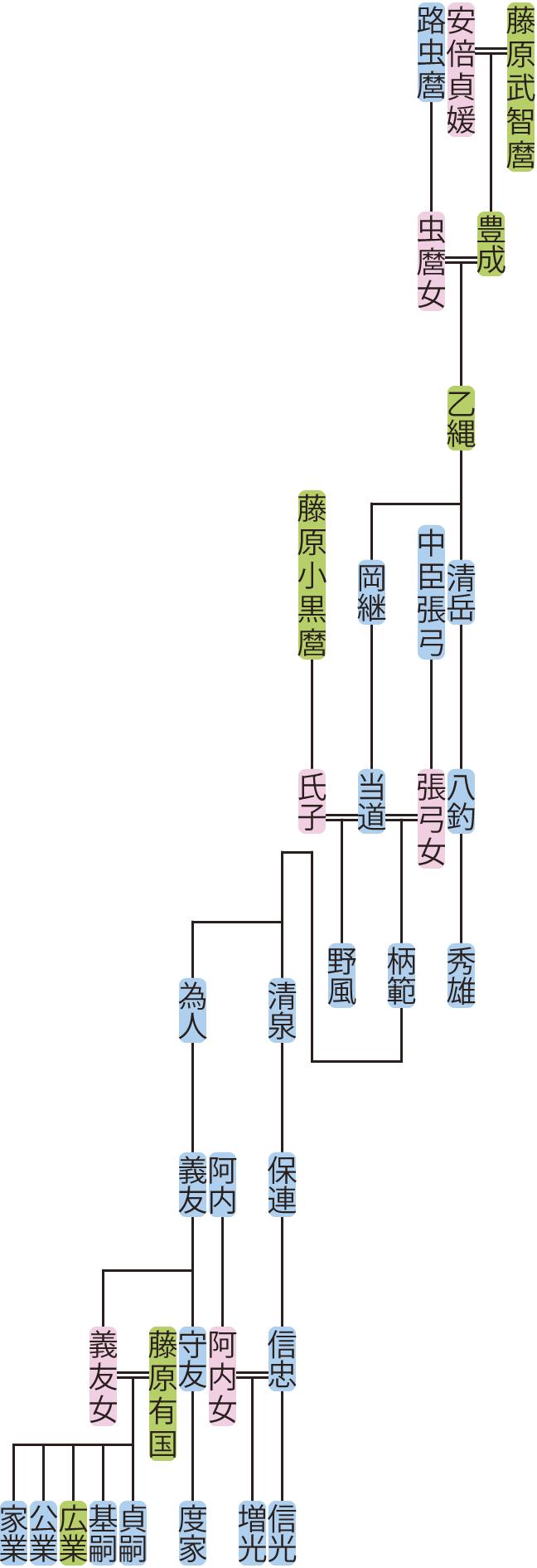 藤原乙縄の系図