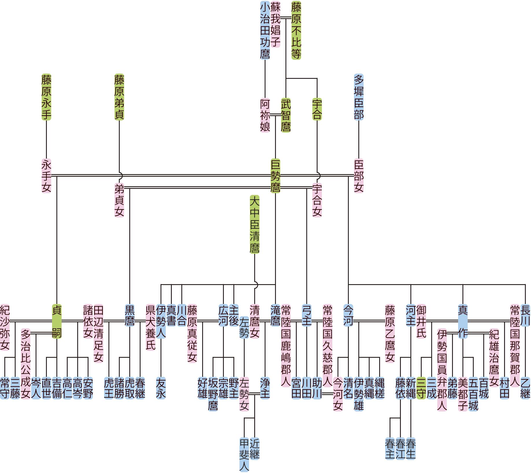 藤原巨勢麿の系図