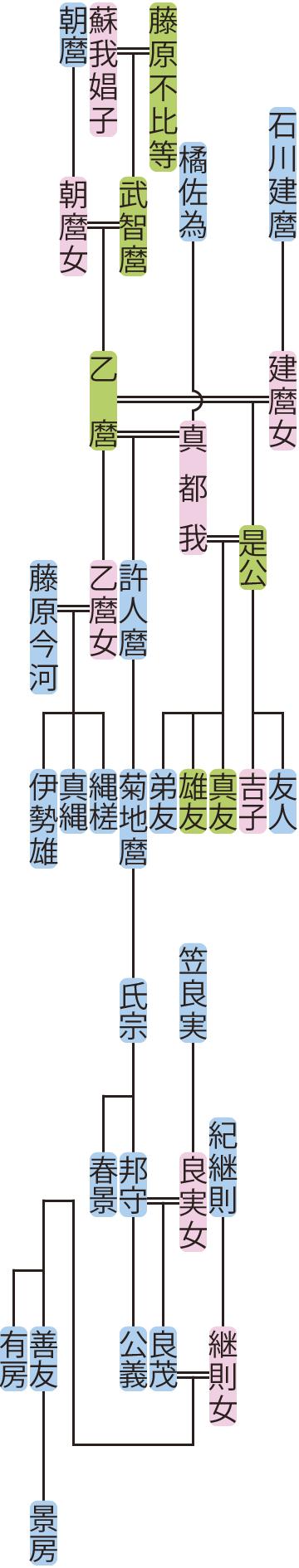 藤原乙麿の系図