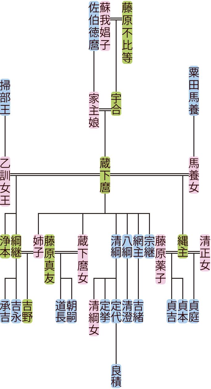 藤原蔵下麿の系図