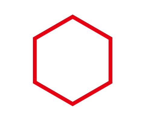 六角形を描く