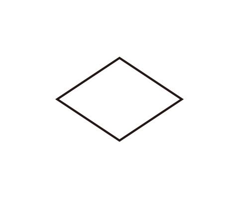 菱形を描く