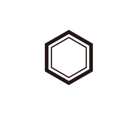六角形の内側に線を追加する