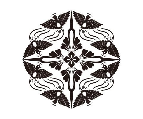 花菱の周辺部分を描く