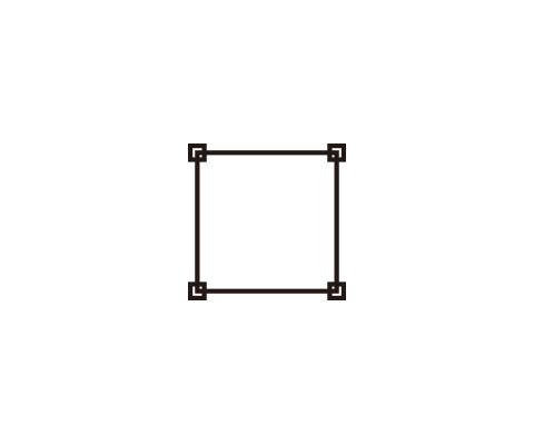 四角形を描く