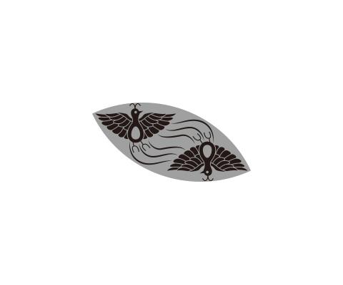 尾長鳥の尾を描く