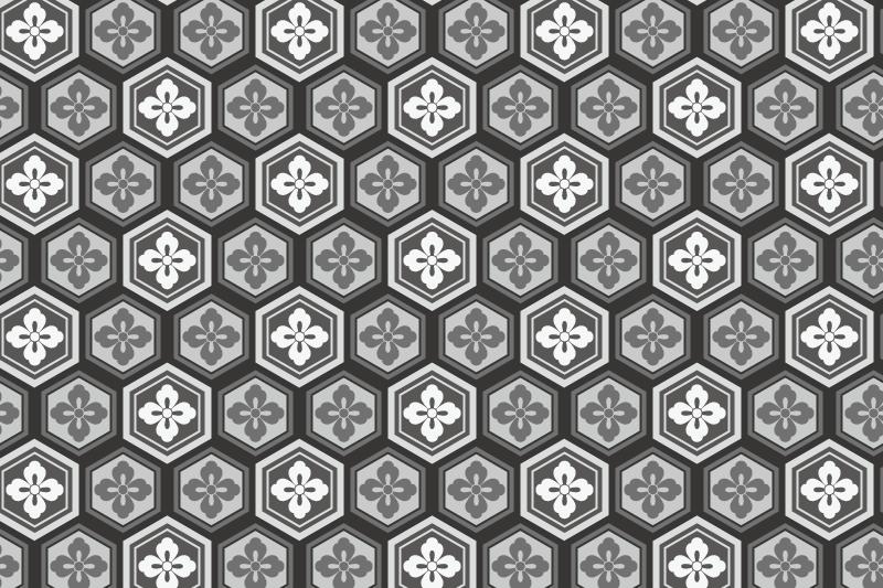 亀甲のパターン9