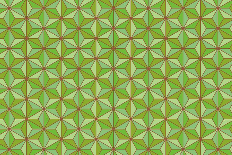 麻の葉パターン10