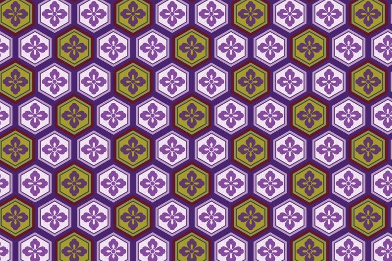 亀甲のパターン11