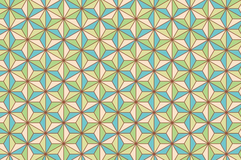 麻の葉パターン11
