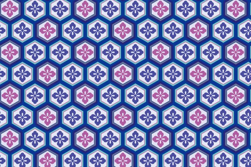 亀甲のパターン12
