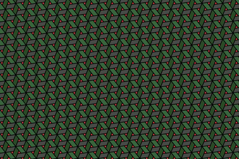 網代麻の葉パターン13