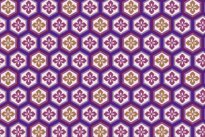 亀甲のパターン14