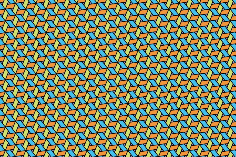 網代麻の葉パターン14