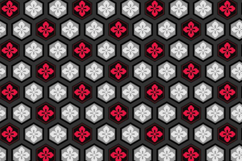 亀甲のパターン16