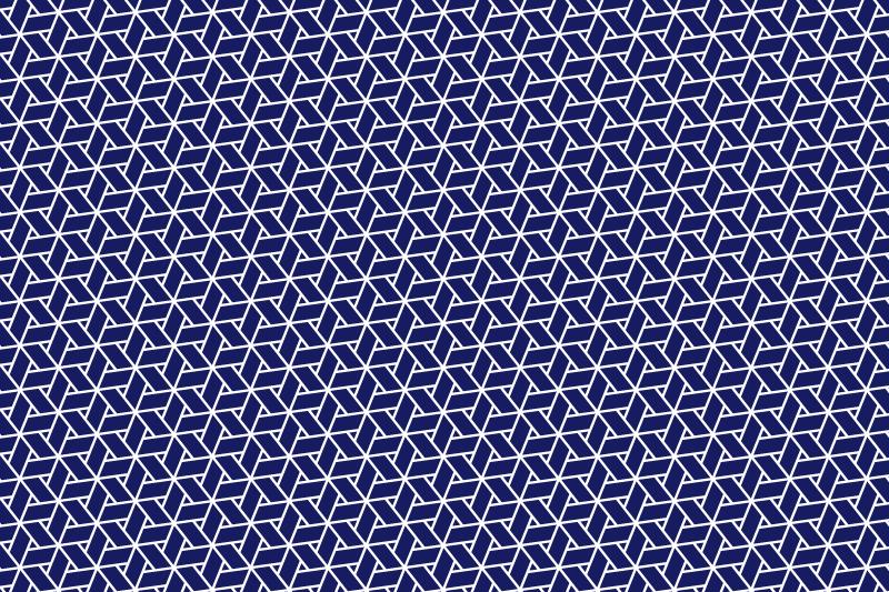 網代麻の葉パターン1