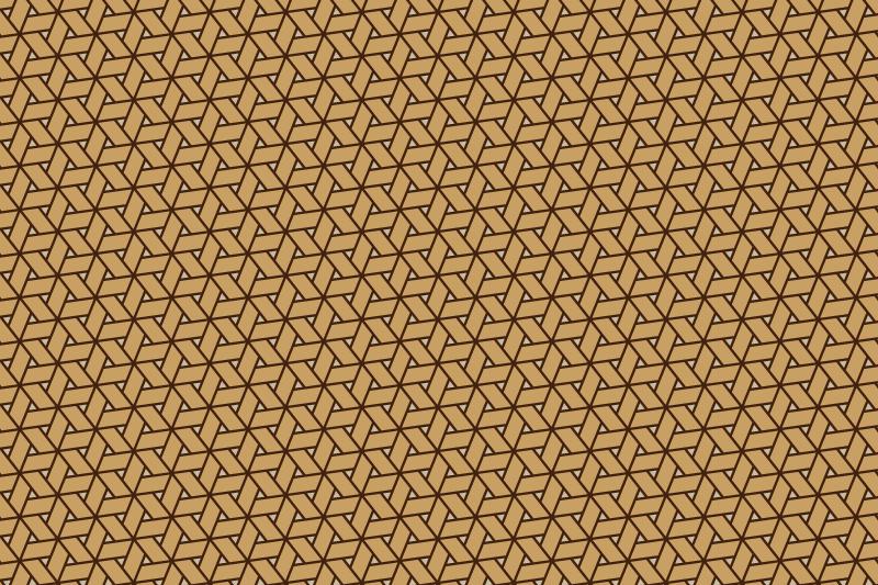 網代麻の葉パターン3
