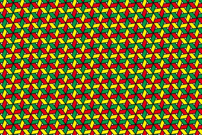 網代麻の葉パターン4