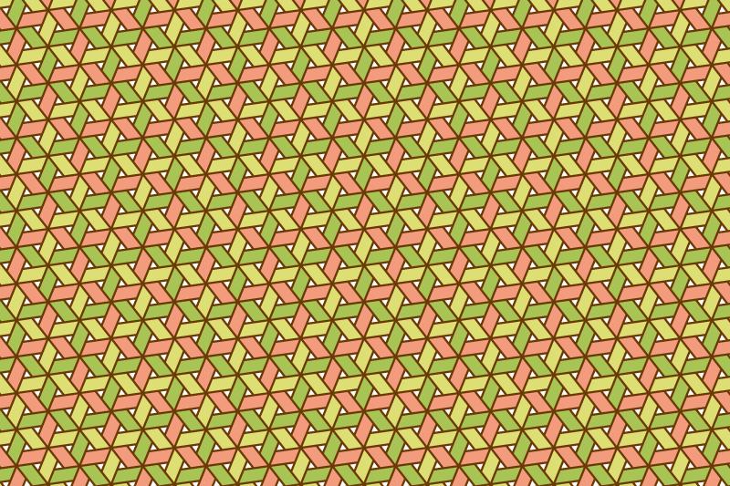 網代麻の葉パターン5