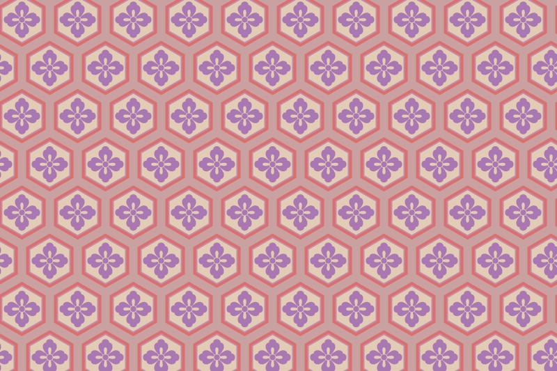 亀甲のパターン6