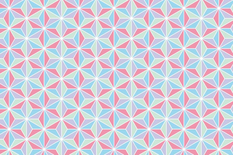 麻の葉パターン6