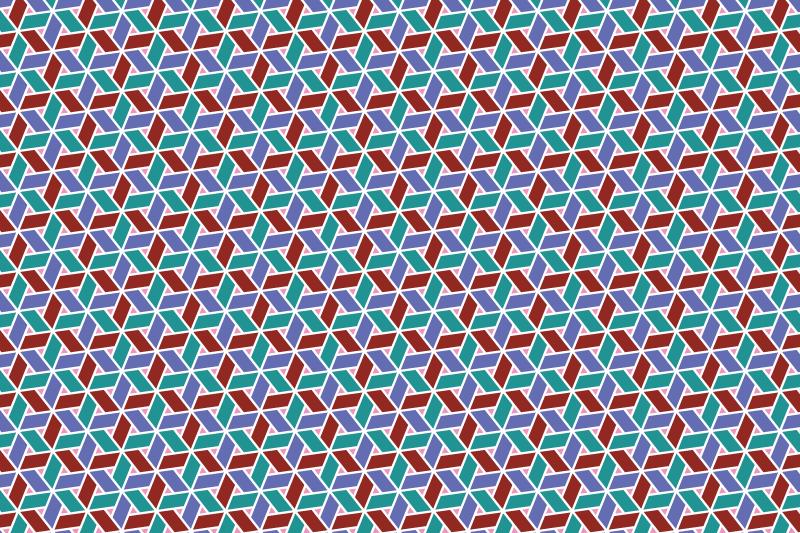 網代麻の葉パターン7
