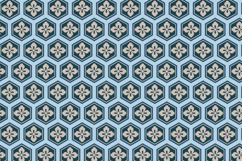 亀甲のパターン8