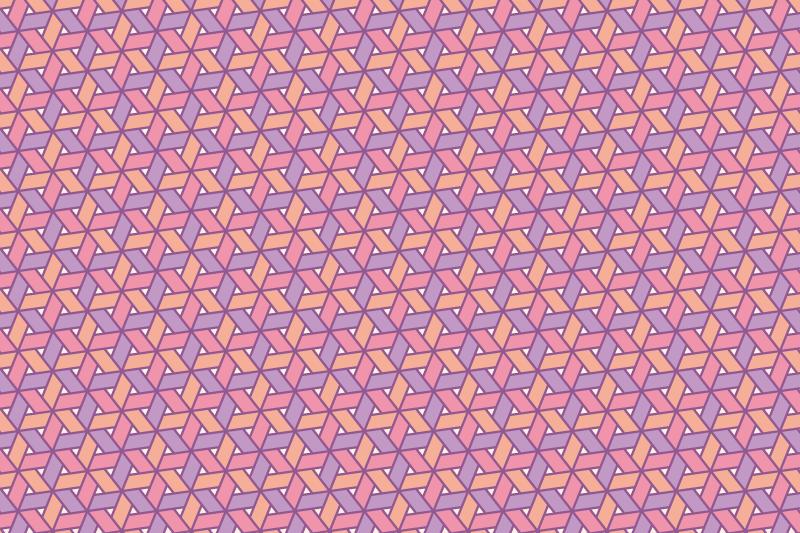網代麻の葉パターン8