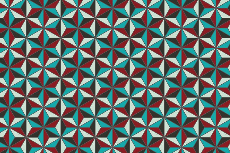 麻の葉パターン8