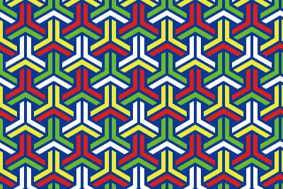 組亀甲のパターン16