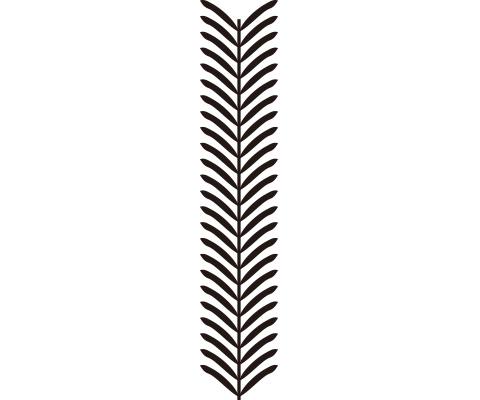 葉のパーツを作る