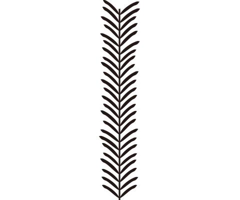 葉のパーツに変化をつける