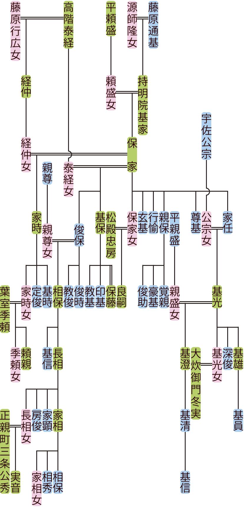 持明院保家の系図