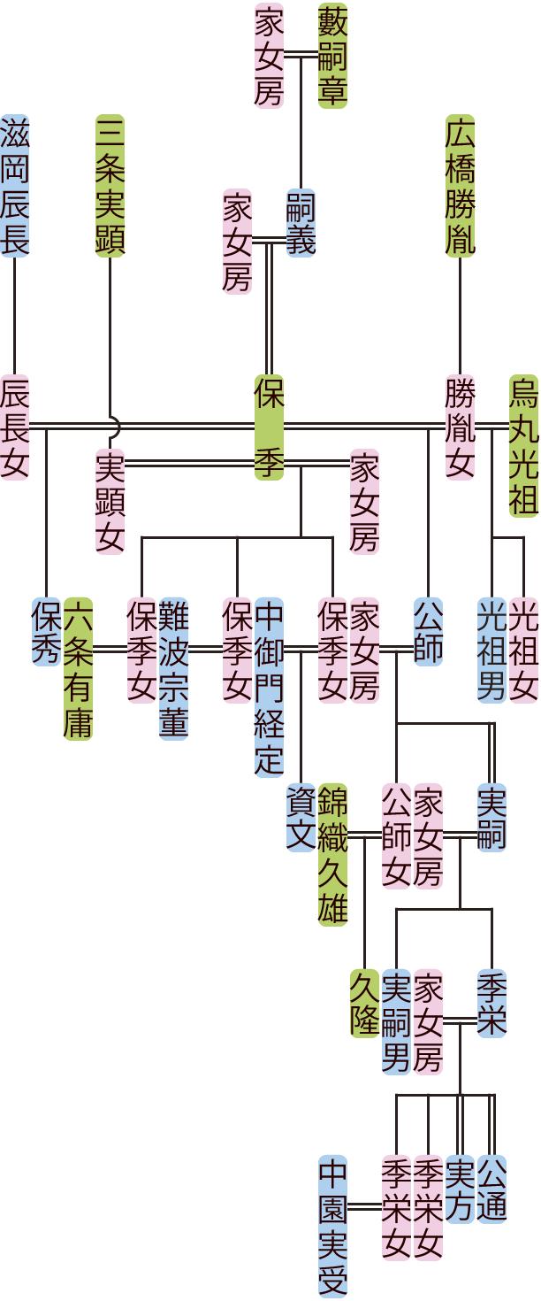 藪保季~実方の系図