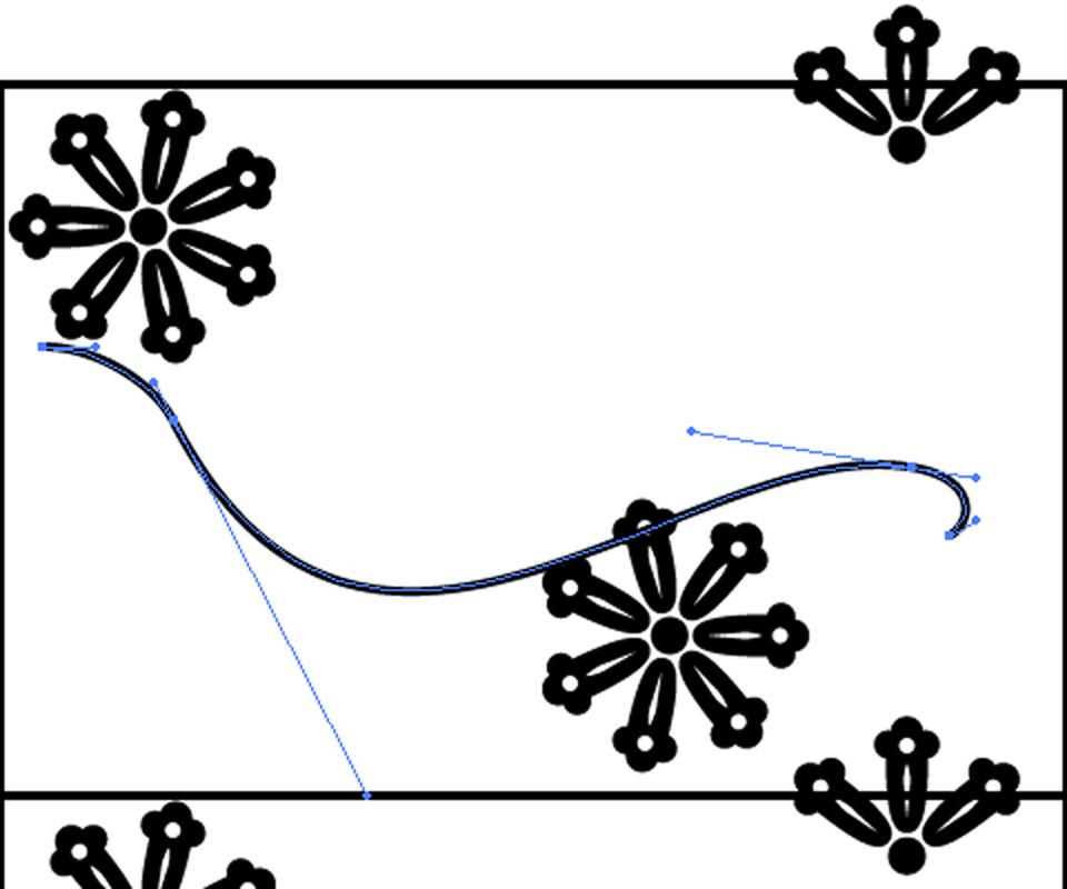 蔓のパーツを描く