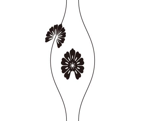 花びらのパーツの先端に膨らみを作る