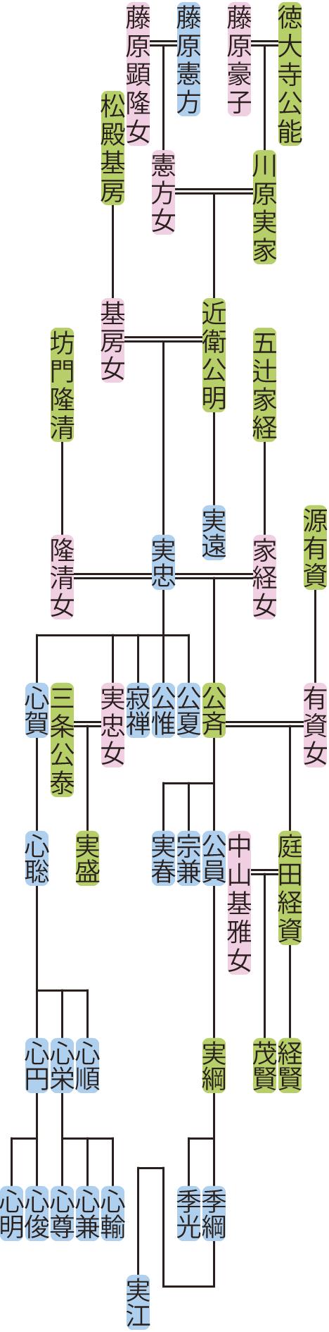 近衛実明の系図