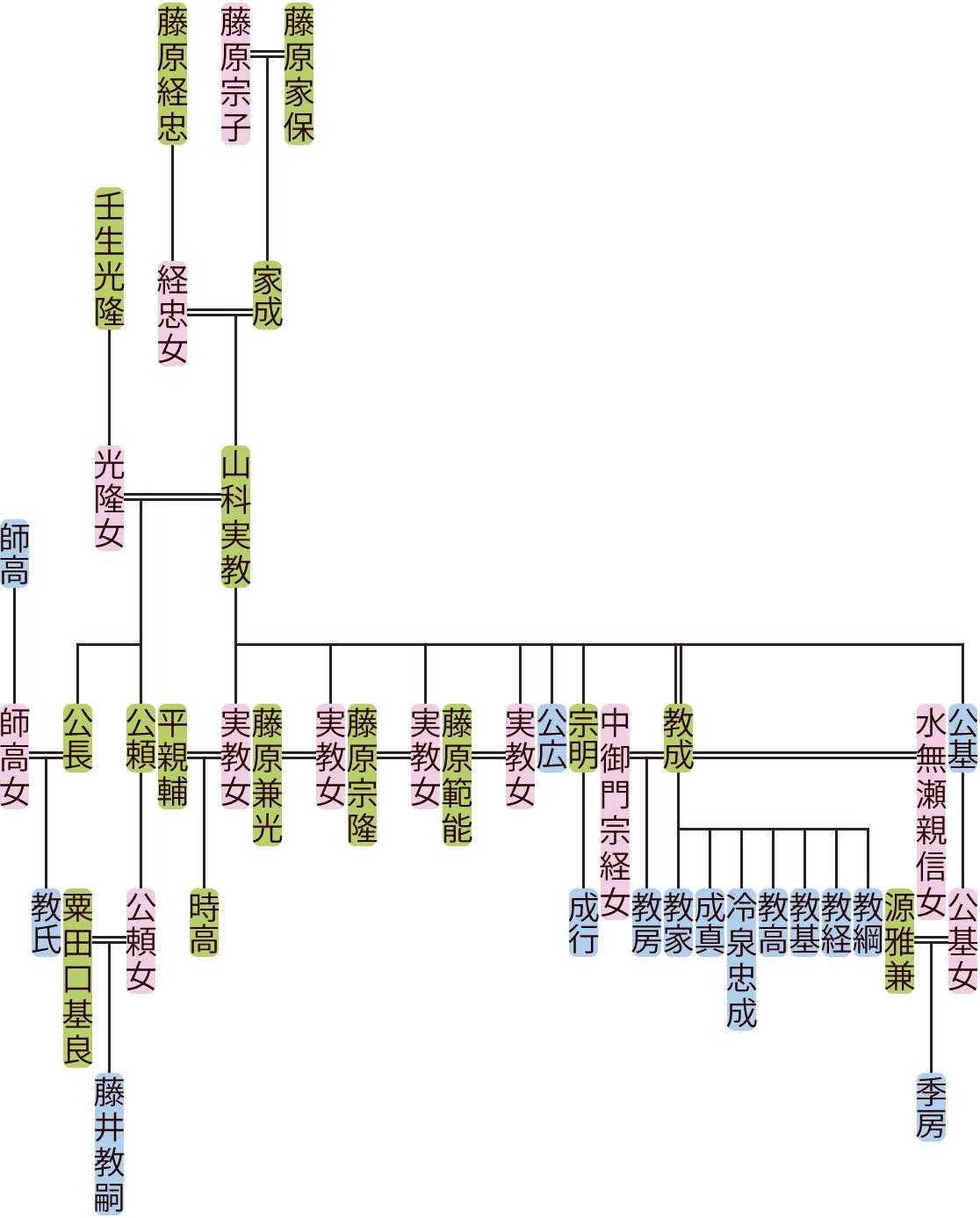 山科実教の系図