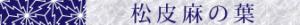 松皮麻の葉