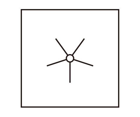 「八重梅を作る」の「中心部分を描く」までをする