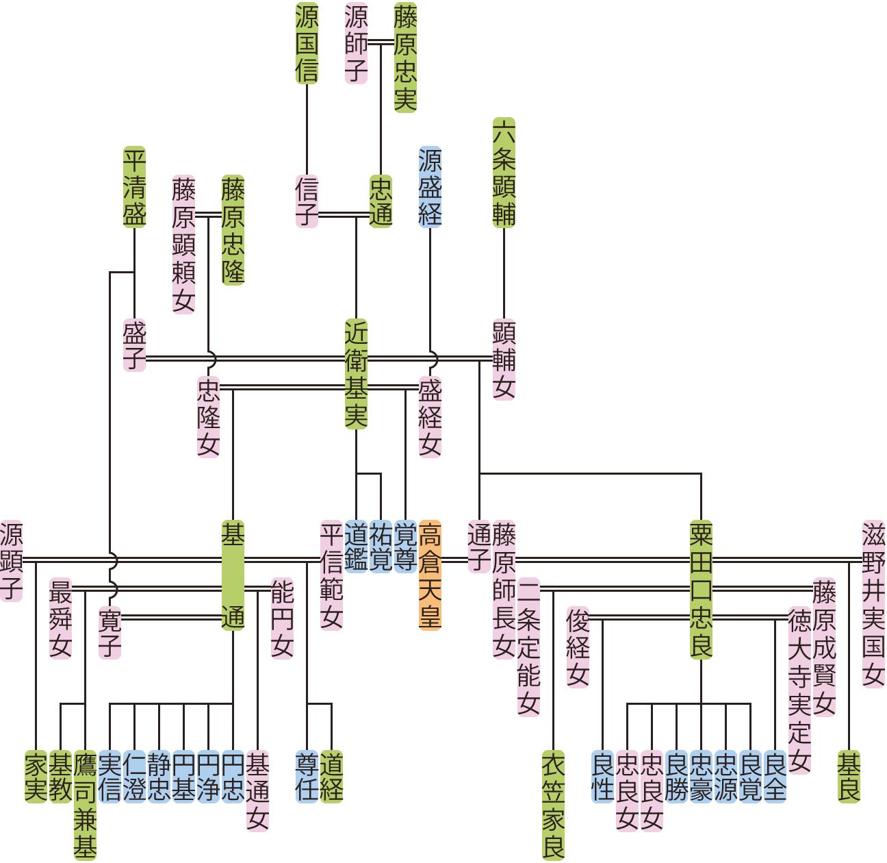 近衛基実の系図