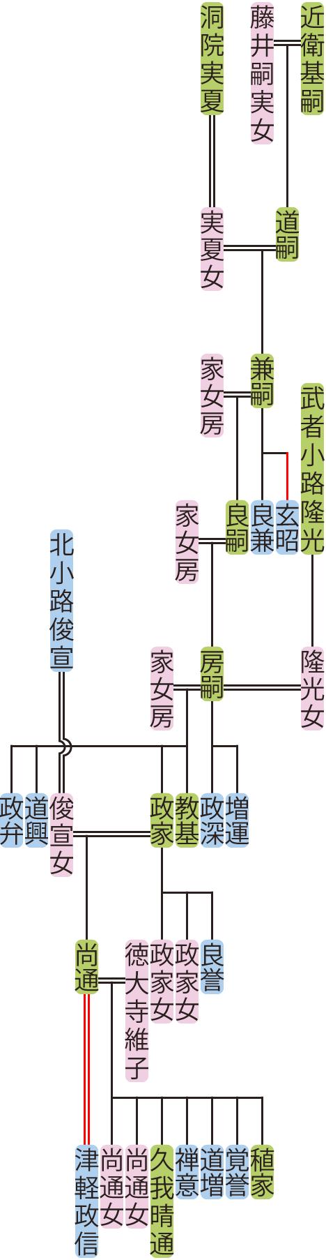 近衛兼嗣~政家の系図
