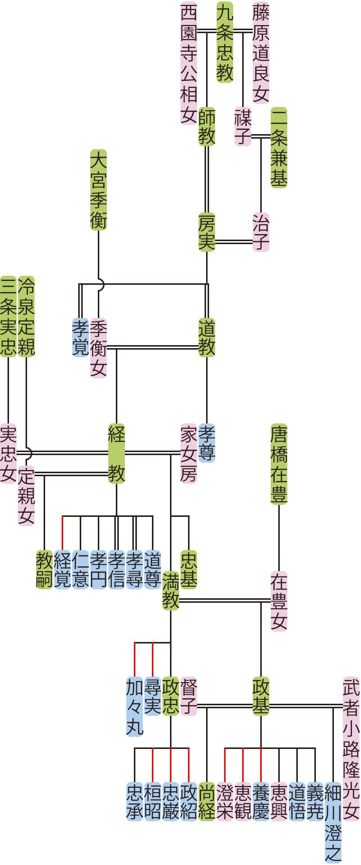 九条房実~満教の系図