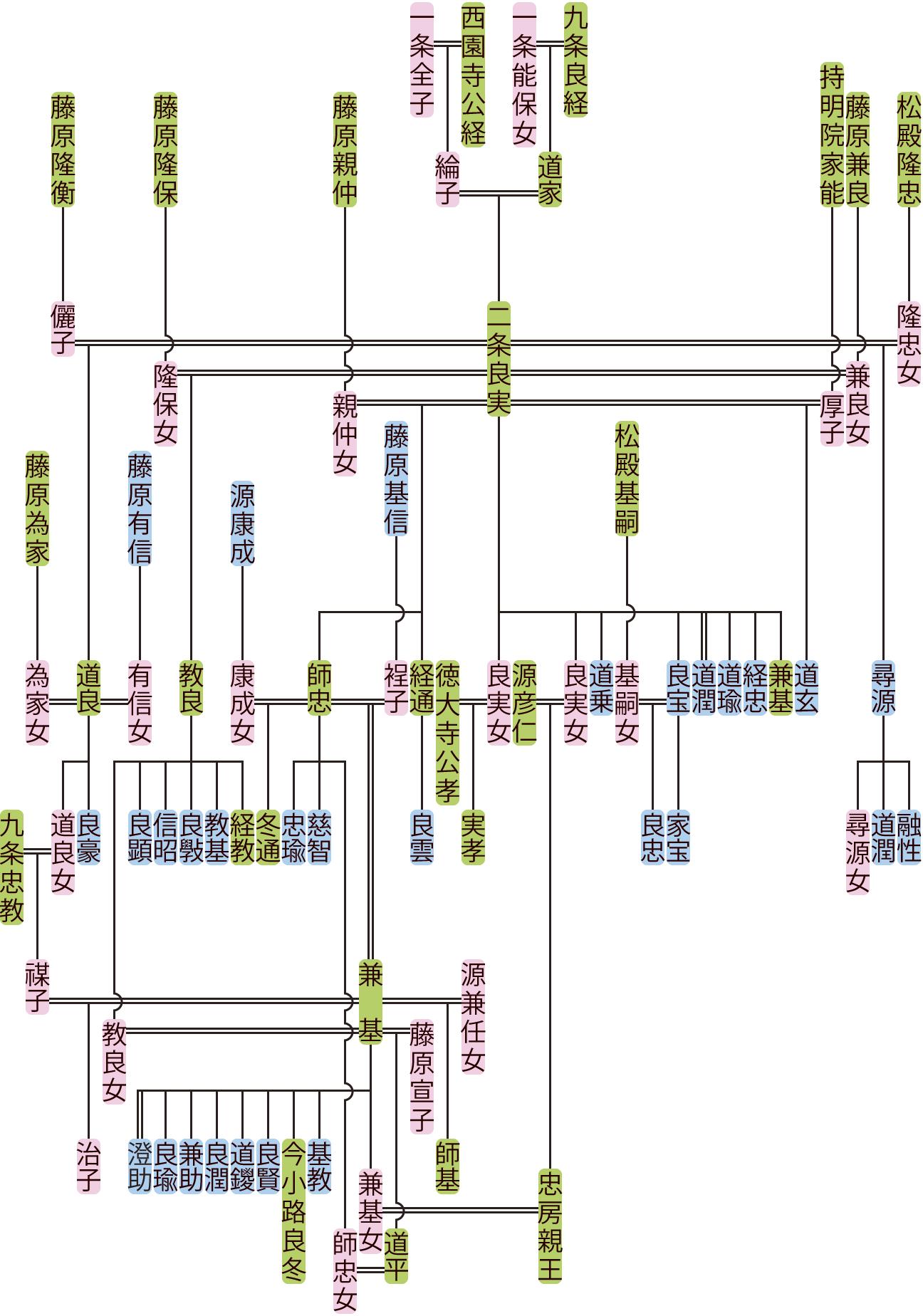 二条良実・師忠の系図