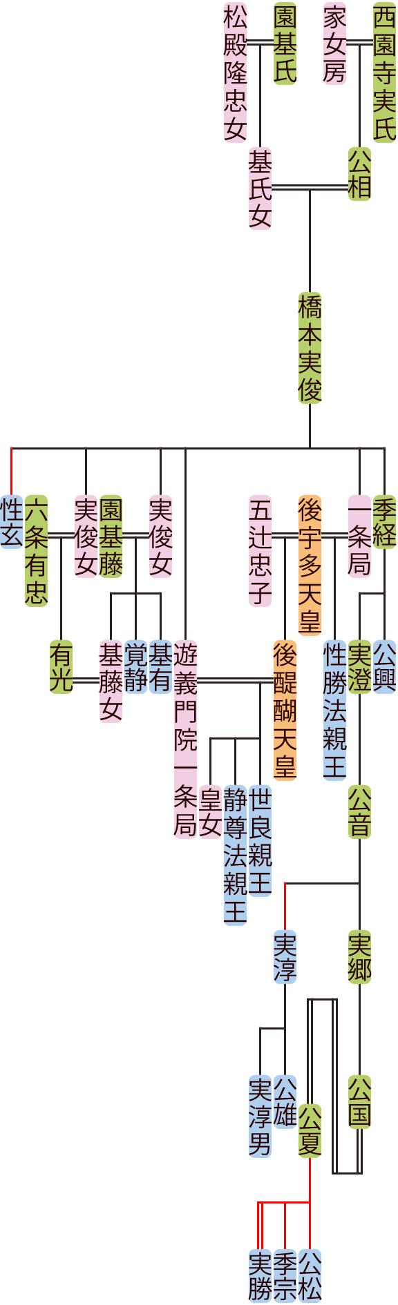 橋本実俊~公国の系図