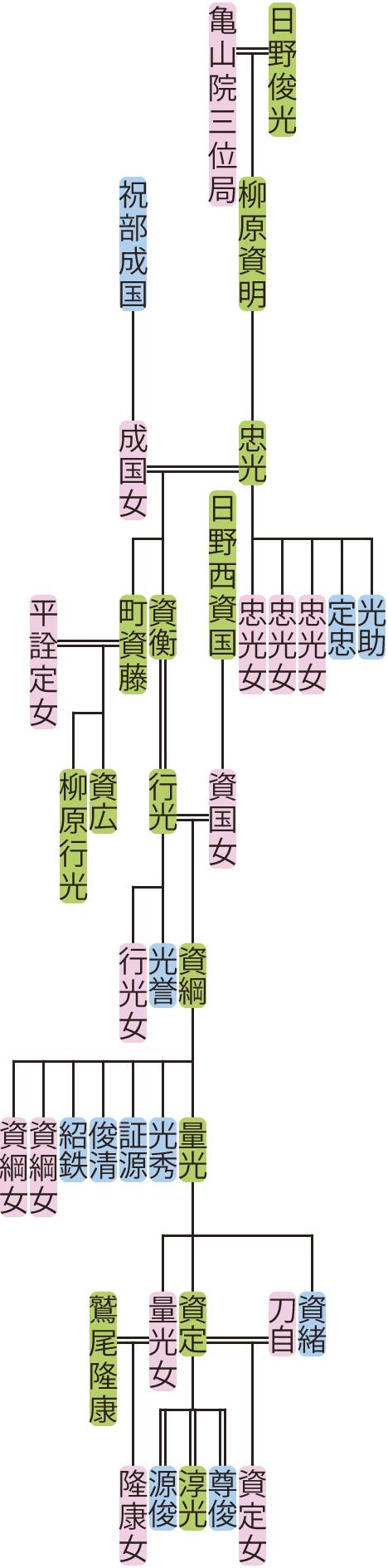 柳原忠光~量光の系図