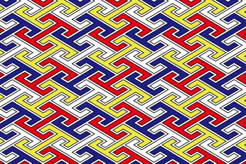 工字繋ぎのパターン13