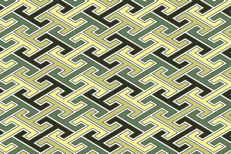 工字繋ぎのパターン14